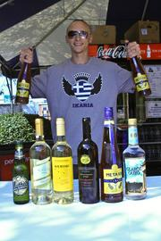 Greek liquor, including ouzo, will be served up by Shawn Chacalos.