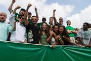 Charlotte 49ers fans get fired up. The 49ers beat the Campbell Fighting Camels 52-7 in their inaugural football game at Jerry Richardson Stadium, on Aug. 31, 2013.