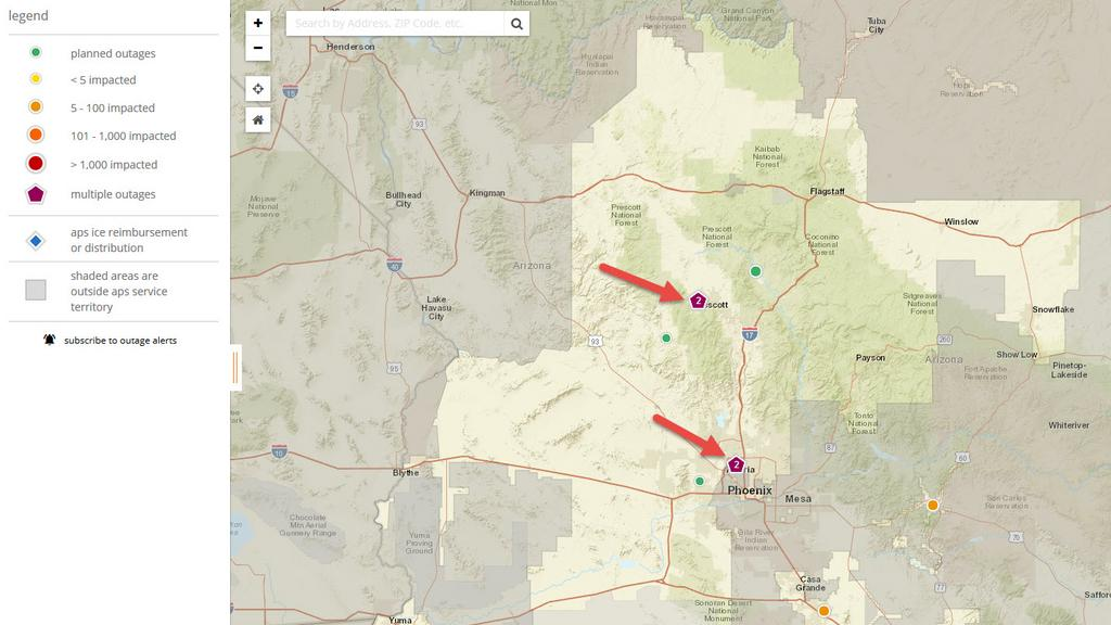 When the power goes out, APS outage map lights up with info