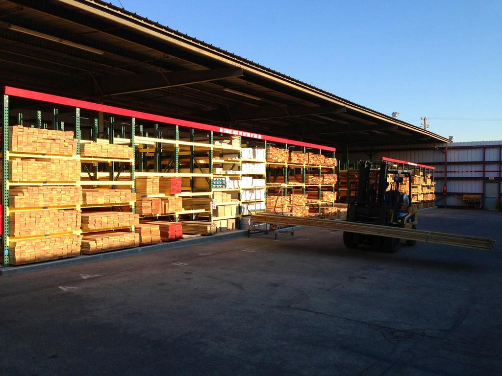 Berco Redwood Has Opened A In Roseville This Is View Of Lumber Racks
