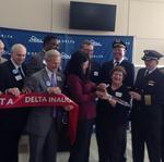 Community leaders, Delta officials launch RDU-Paris route with fanfare