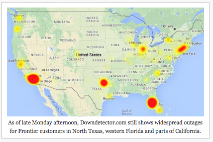 San Antonio spared from Frontier Communications Corp  outages - San
