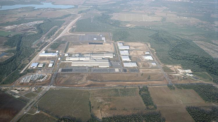 Aerial View Of San Antoniou0027s Existing Toyota Production Facility.