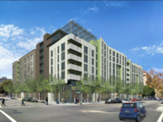 A rendering of Wood Partners' housing project at Oakland's 226 13th St., which agreed to $1.8 million in community benefits.