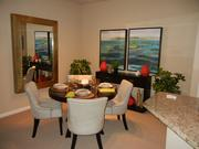 Inside the dining room of a two-bedroom apartment at the new Casa Mirella complex in Ocoee.