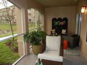 The apartment units also feature spacious patios.