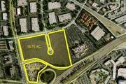 This map shows a portion of the development site, highlighted in yellow. The Bay 101 casino, immediately adjacent, is also included in a later phase.