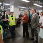Labor Secretary Perez tours Bucks arena site, MATC apprenticeship program