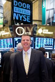 Masonite International Corp. President and CEO Fred Lynch rings the opening bell at the New York Stock Exchange on Sept. 9, 2013, in New York City.