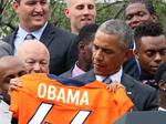 Obama honors, shares jokes with Super Bowl 50 champion Denver Broncos