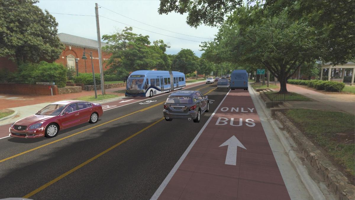 brt line to have dedicated bus lanes throughout route between
