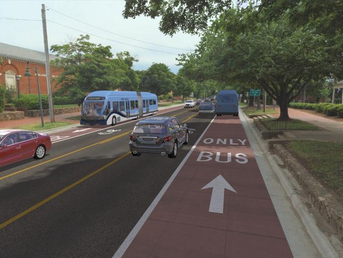 BRT line plans bus-only lanes over entire route