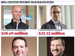 The List: Top Mass. execs cash in on 'value realized' reported in 2015