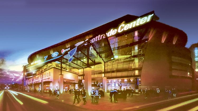 Over the summer, a new scoreboard was installed at Scottrade Center, part  of the