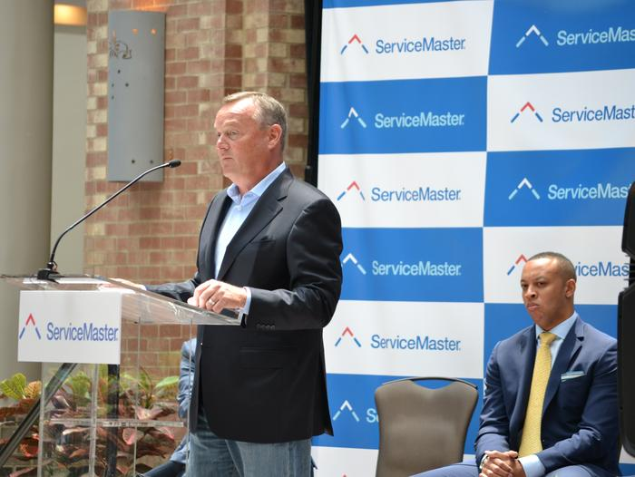 ServiceMaster CEO Robert Gillette during company's announcement