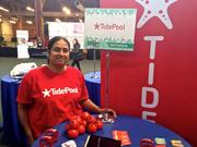 Vamsee Nalamothu, CEO of San Francisco-based Tidepool, pitched at TechCrunch Disrupt on Tuesday. Her company uses tests to tell users about their personality, thinking and mood.