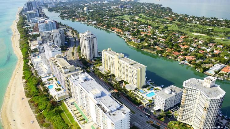 Miami Beach Aerial View Florida Usa